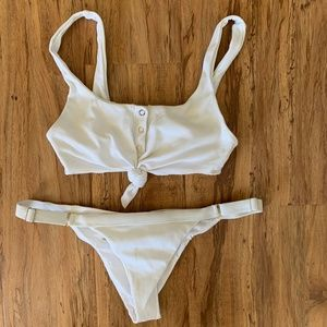 Beach Bunny Rib Tide Knot Top and Bottom
